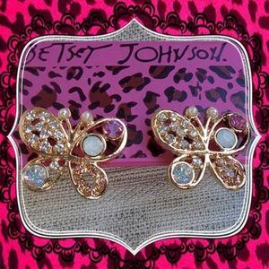 Betsey Johnson Adorable Little Butterfly Earrings